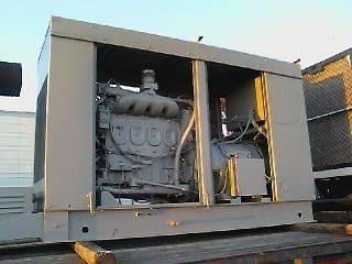 STEWART & STEVENSON GENERATOR W/4 CYLINDER DIESEL ENGINE