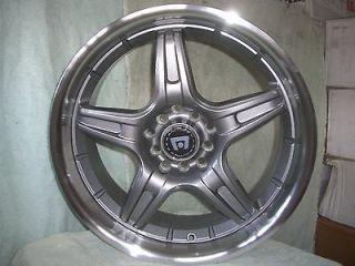 17 Inch 17x7 Motegi SP5 Gun Metal RIMS Ford Mustang Honda Civic Accord