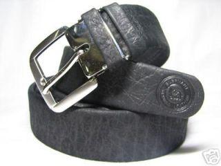 Black Elephant Skin Leather Mens Money Belt Size 42 50
