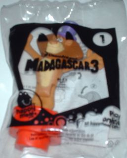 Alex #1 Madagascar 3 2012 McDonalds Happy Meal Toy Sealed in Bag
