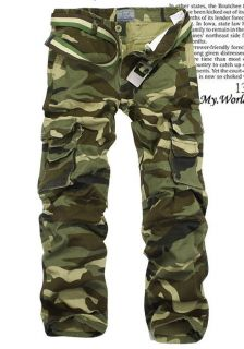 3mu Mens Casual Military Army Cargo Camo Combat Style Pants Toursers