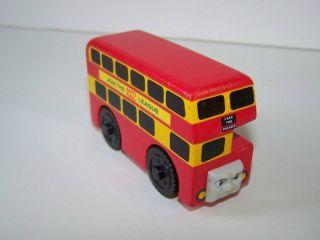 THOMAS Train & Friends Wooden Railway Bulgy Double Decker Bus Free