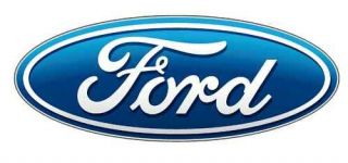 FORD RACING BLUE OVAL vinyl sticker decal 18