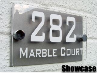 MODERN HOUSE SIGN DOOR PLAQUE NUMBER ACRYLIC PCS STEEL PERSPEX FREE P