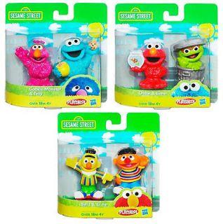 Sesame Street 2 Packs WAVE 1 (3 Packs) Hasbro Playskool Action Figures