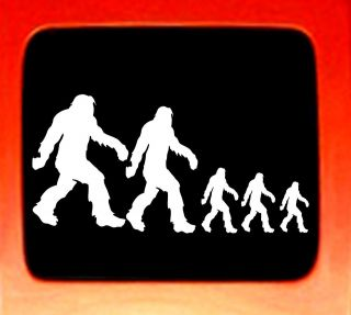 Sasquatch stick figure family bigfoot Vinyl Decal Sticker funny Nobody