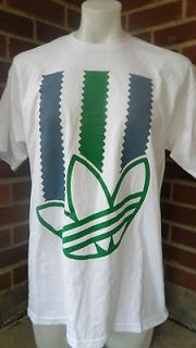 ADIDAS ORIGINALS RASTA STRIPES T SHIRT MENS SIZE MEDIUM NWT