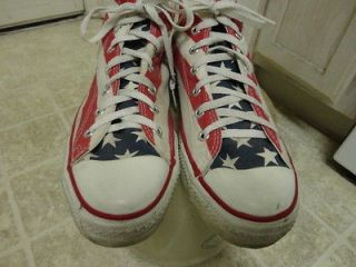 STARS & STRIPS AMERICAN FLAG SHOES MADE IN USA GREAT COND 10.5
