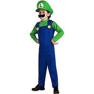 Boys Super Mario Luigi Halloween Party Costume Jumper Hat Mustache S 6