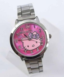 pcs Hello Kitty Stainless Steel wrist Watch Lot Mix Wholesale Child
