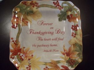 222 Fifth Autumn Celebration Salad Plate 8 3/4 Thanksgiving