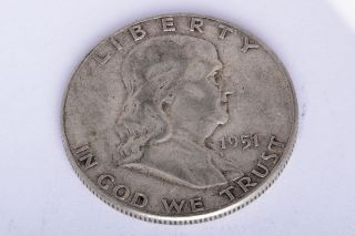 1948 1958 VINTAGE BENJAMIN FRANKLIN HALF A DOLLAR 50 CENTS SILVER COIN