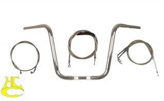 Chrome Wild 1 WO572 14 Ape Hanger KIT Harley Davidso​n Road