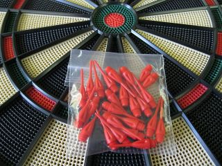 25 NEW RED Dimpled DART TIPS for All Electronic Dart Boards 1/4