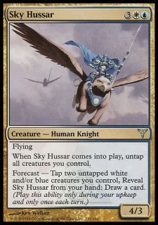 Sky Hussar X4 FINE PLAYED Dissension MTG Magic Cards Gold White Blue