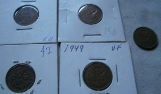LOT 5 Canada Canadian small cents one cent penny coin 1936 1943 1944