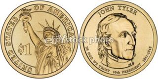 Dollar, 2009, John Tyler, Presidents