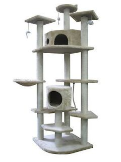 New 80 Beige Cat Tree Condo Furniture Scratch Post Pet House 38B