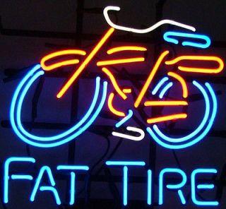 FAT TIRE LOGO BICYCLE BIKE BEER BAR PUB NEON LIGHT SIGN al0001