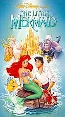 Little Mermaid (VHS, 1990) Banned cover art Clamshell case great shape