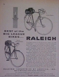 1955 Raleigh Bicycle~Boy Sports Light Roadster Bike Ad