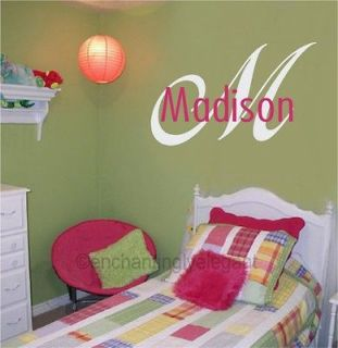 Name Vinyl Decal Wall Stickers Letters Words Teen Room Wedding