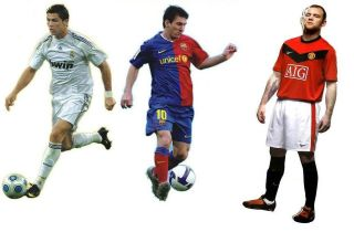 Ronaldo/Messi/Rooney Giants 33 Wall Stickers Decor Mural Art