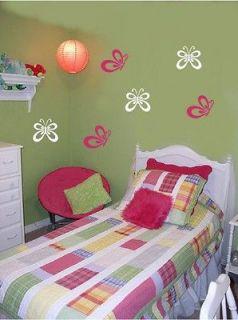 Vinyl Wall Decal Stickers Girls Room Nursery Decor Butterflies Art