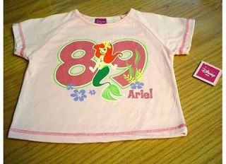 NEW DISNEY LITTLE MERMAID ARIEL PINK T SHIRT GIRLS 4T