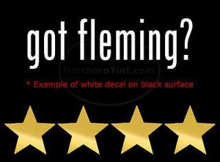 got fleming? Vinyl wall art truck car decal sticker