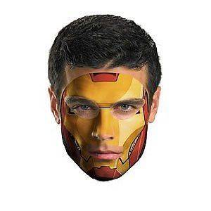 IRON MAN 2 FACE TATTOO MARVEL UNIVERSE AVENGERS ASSEMBLE