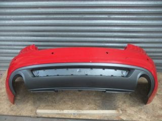 AUDI A5 S LINE 8T8 REAR BUMPER & DIFFUSER *GENUINE AUDI PART* RED [12A