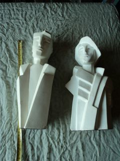 Austin Productions 1988 Karen Smildens signed 2 sculptures   1980s