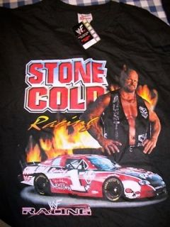 Stone Cold Steve Austin Wrestling Racing Shirt   Large Available WWE