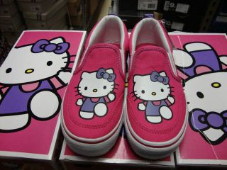 Vans Hello Kitty Asher Magenta / White Kids 11   4.5 [VN 0DFU738]