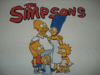 Vintage 1980s THE SIMPSONS BURNOUT T SHIRT Butter SOFT Bart Distressed
