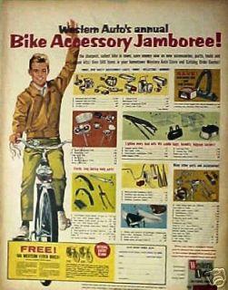 1964 Western Autos Jamboree Bicycle Bike Accessory~Lights~Horns