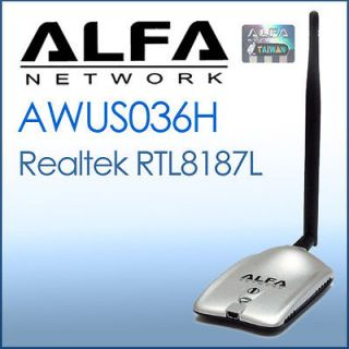 ALFA Network AWUS036H 1000mW USB Wireless G WiFi Adapter REALTEK