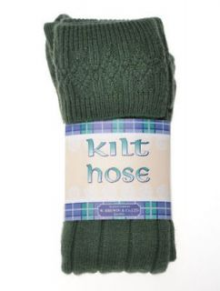 Childrens LOVAT GREEN KILT HOSE Age 10 14 Years