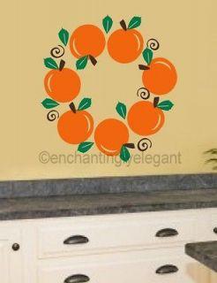 Fruit Wreath Modern Kitchen Decor Backsplash Vinyl Decal Wall Sticker