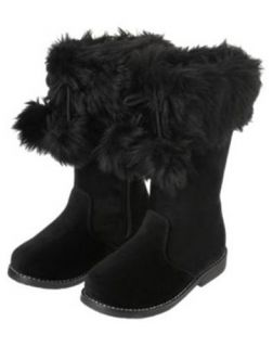 NWT GYMBOREE CHEERY ALL THE WAY BOOTS Girl Size 9 11 Black Faux Suede