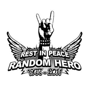 RANDOM HERO ryan tribute dunn cky rip TSHIRT any size