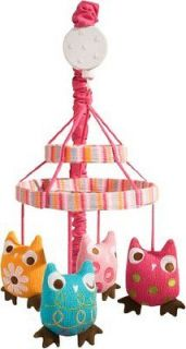 Infant Girls ZUTANO OWLS MUSICAL MOBILE Baby Nursery New Fast Shipping