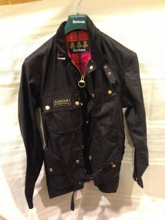 Barbour Black Nylon International A7 Motorcycle Jacket 100% Authentic