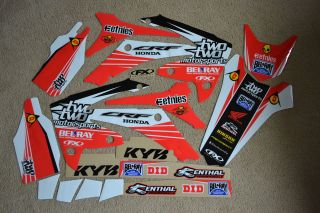 CHAD REED #22 TEAM HONDA GRAPHICS 09 10 11 12 CRF450R & CRF250R 10
