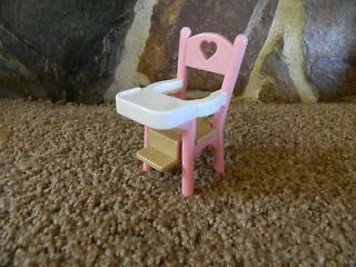 BARBIE KELLY LOVING FAMILY DOLL HOUSE SIZE HIGH CHAIR BABY NURSERY