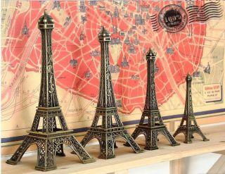 Paris Eiffel Tower Antiqued Imitation Model Bronze Tone Vintage Alloy