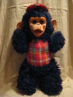 RARE VINTAGE 1971 GUND RUBBER FACE MONKEY WITH SLEEP EYES   18 TALL