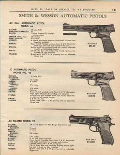 1964 Smith & Wesson S&W Model 39 46 Pistol Ad