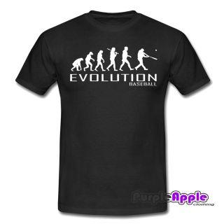 BASEBALL APE TO EVOLUTION OF T SHIRT TSHIRT MENS WOMENS BOYS GIRLS